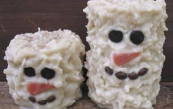 Snowmen Pillar Candles