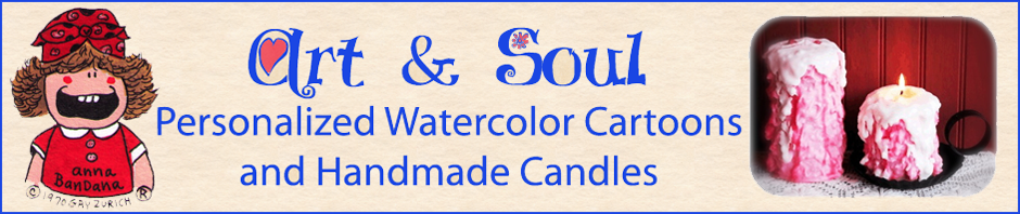 Personalized Cartoons, Personalized Gifts and Handmade Artisan Candles by Art & Soul